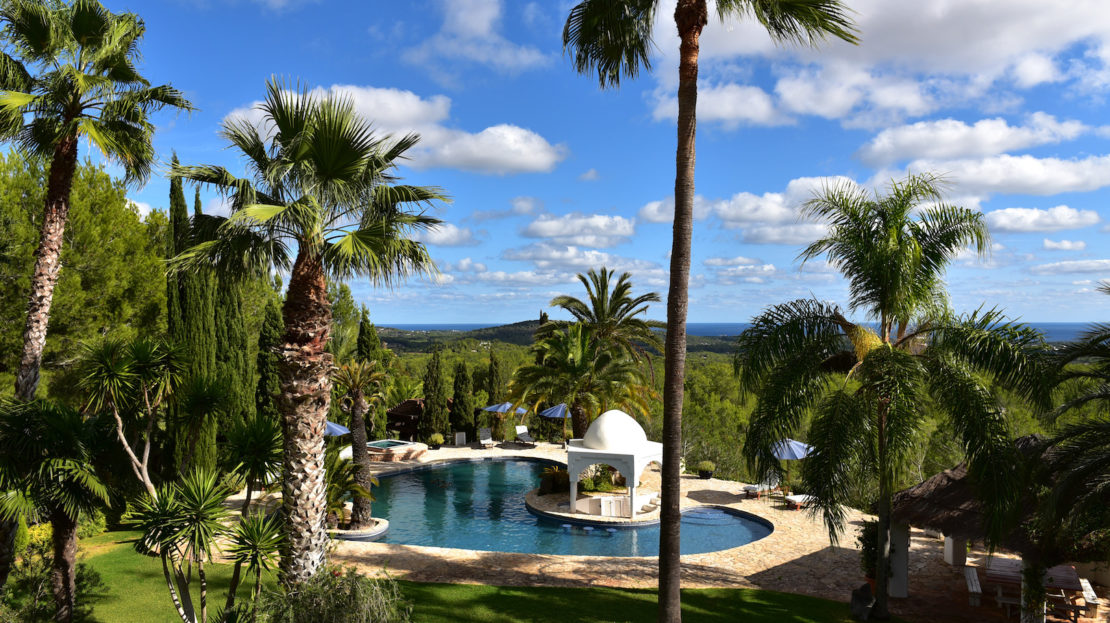 6 bedroom Family-friendly villa to rent in Ibiza, North island with total privacy, and sea views. Children welcome with a kid area, and the donkey park