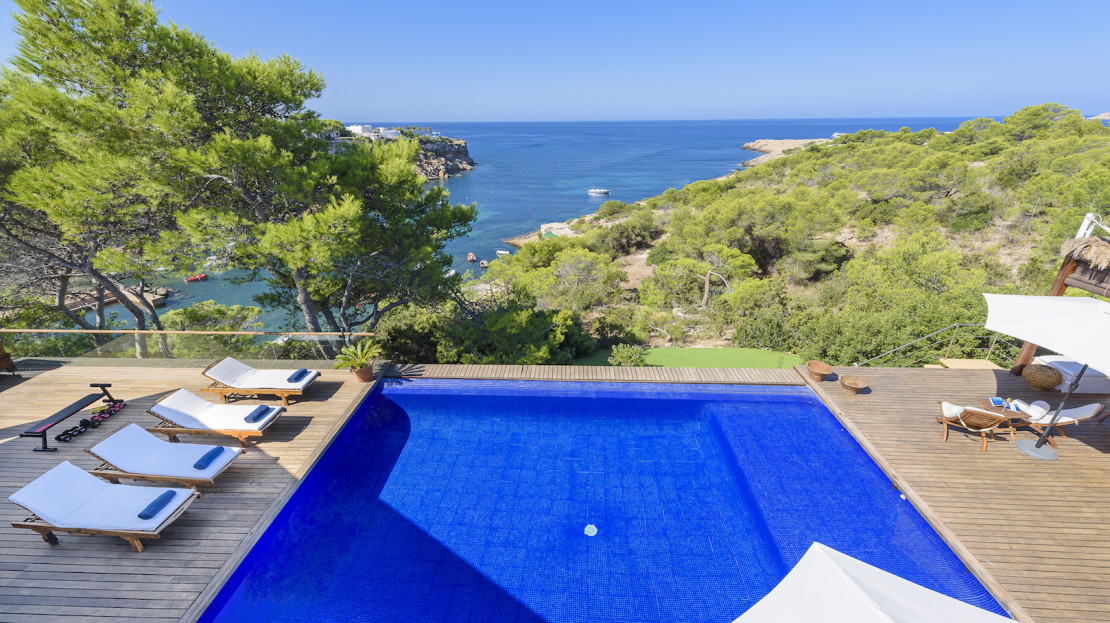 Villa Coral, Luxury villa with direct sea access for holiday rental in Ibiza, Balearic, Spain