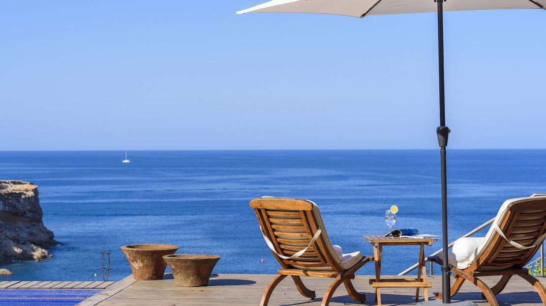 Ibiza Luxury villa to rent with sea access, San José, Balearic Island