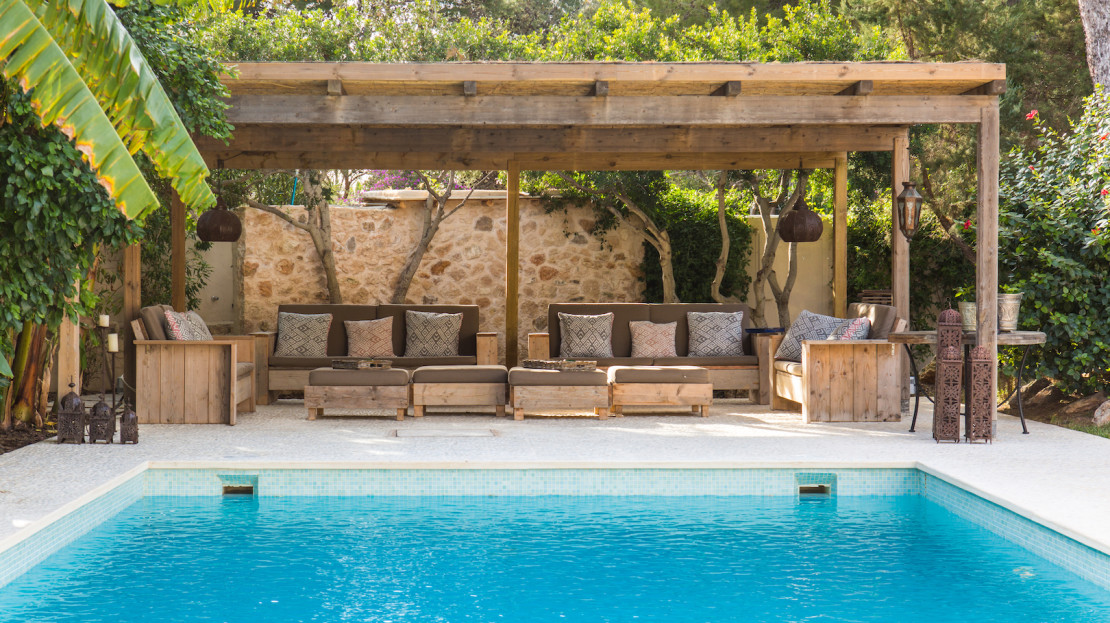 Luxury Villa rental Collection, in Porroig, South part, Ibiza island in Spain