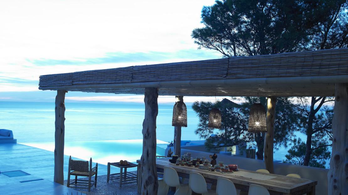 Exclusive villa with direct sea access, South Ibiza