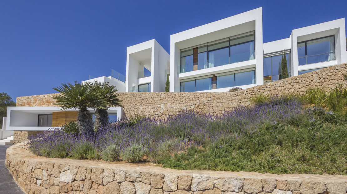 Large modern villa to buy in Ibiza, with security 24hrs
